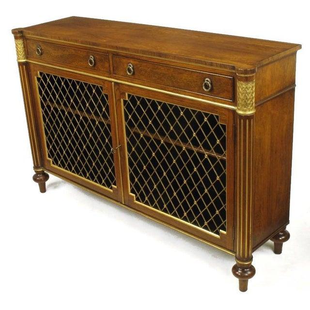 Hollywood Regency Arthur Brett & Sons Regency Style Rosewood Sideboard For Sale - Image 3 of 10