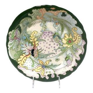 GeWi Dutch Art Pottery, Jugendstil Hand-Painted Gouda Holland Platter For Sale