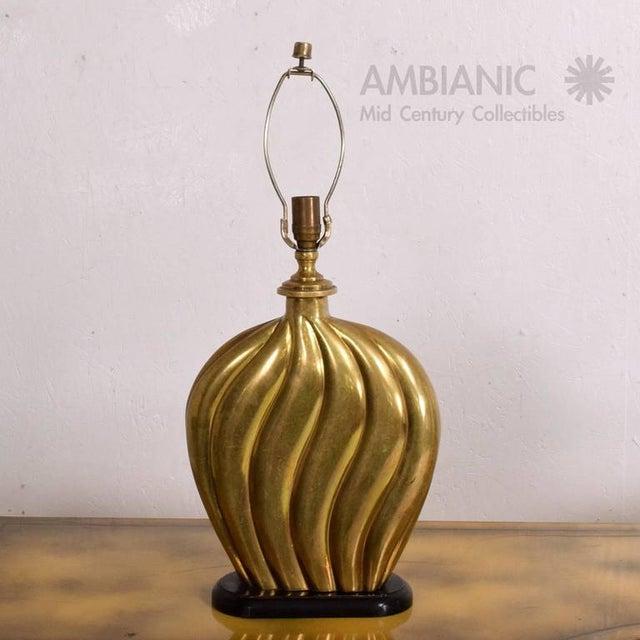 Hollywood Regency Hollywood Regency Brass Table Lamp For Sale - Image 3 of 7