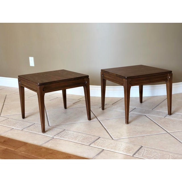 Wood 1960s Mid-Century Modern Mersman Side Tables - a Pair For Sale - Image 7 of 9