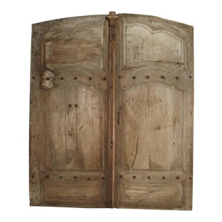 Pair of Antique French Oak Doors From Burgundy, 1700s For Sale