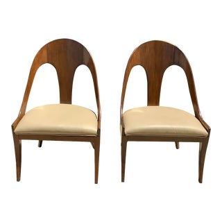 Modern Spoonback Chairs - a Pair For Sale