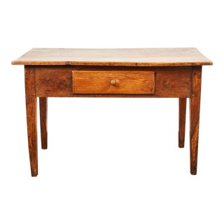 Late 18th Century British Oak Single Drawer Table For Sale