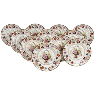 11 Antique Masons Ironstone Dinner Plates, in the Chinese Taste For Sale