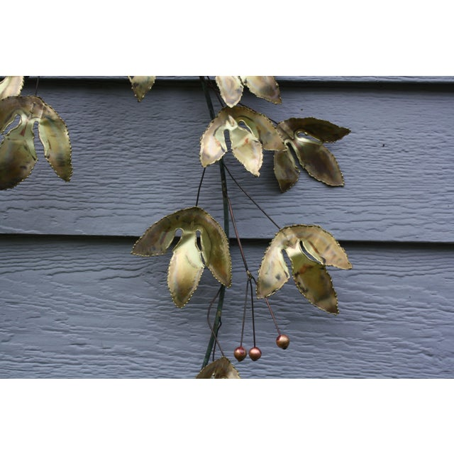 Mid 20th Century 1969 Curtis Jere Mid Century Modern Metal Wall Sculpture Leafs, Signed For Sale - Image 5 of 13