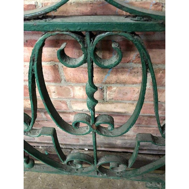 Metal Late 19th Century Decorative Wrought Iron Balustrade/Railing For Sale - Image 7 of 8