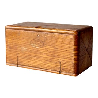 Antique Wooden Fold Out Dovetail Box For Sale