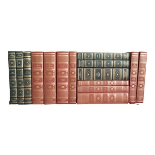 Vintage Red and Green Book Collection - Set of 15 For Sale