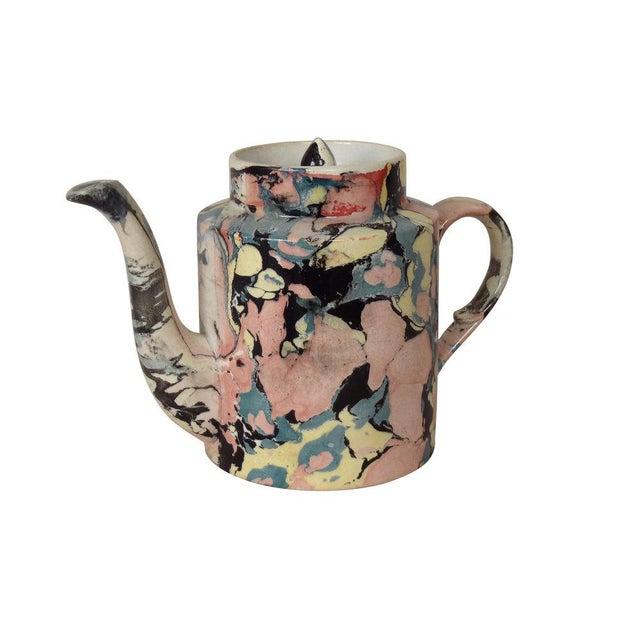 Late 19th Century A Sarreguemines Tea Pot For Sale - Image 5 of 7