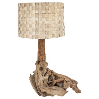 Large Driftwood Table Lamp For Sale