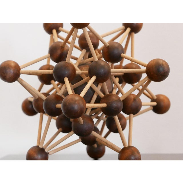 Vintage Molecular Wood Model For Sale - Image 4 of 5