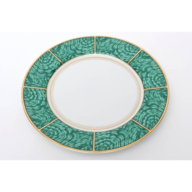 Ceramic Set of Four Settings of Georges Briard Imperial Malachite China Service For Sale - Image 7 of 9
