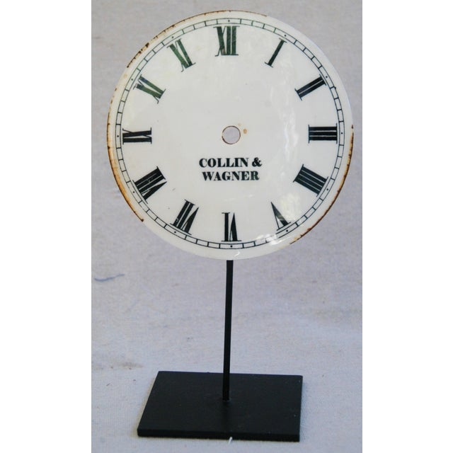 Metal Porcelain & Metal Clock Faces on Stands - Set of 3 For Sale - Image 7 of 10