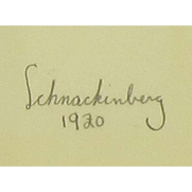 """Blue Set Three Walter Schnackenberg (1880-1961) """"Ballet Und Pantomime"""" Tinted Prints For Sale - Image 8 of 9"""