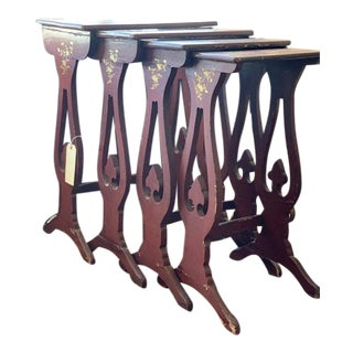 19th Century Chinoiserie Nesting Tables - Set of 4 For Sale