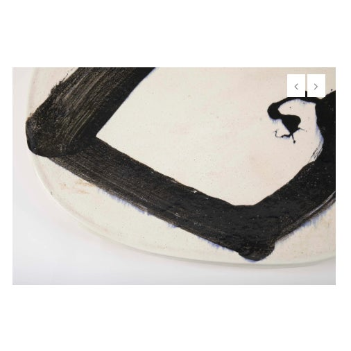 Asian Jun Kaneko Glazed Earthenware Oval Plate For Sale - Image 3 of 8