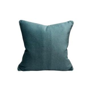 Scalamandre Bay Velvet Pillow, Surf For Sale
