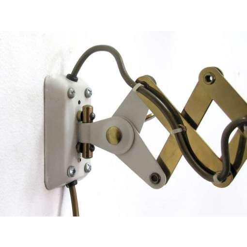 German White and Brass Scissor Lamp - Image 4 of 10
