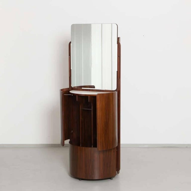 Swivel Wardrobe / vanity piece with fold-out doors in wood in excellent condition.