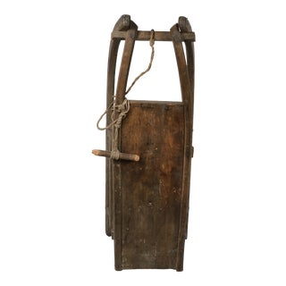 Antique Wooden Snow Sled For Sale