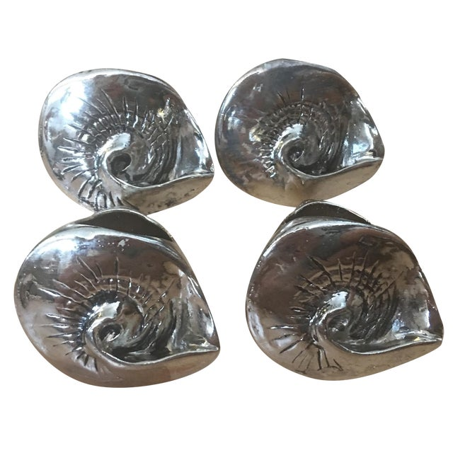 Silver Seashell Napkin Rings - Set of 4 - Image 1 of 7