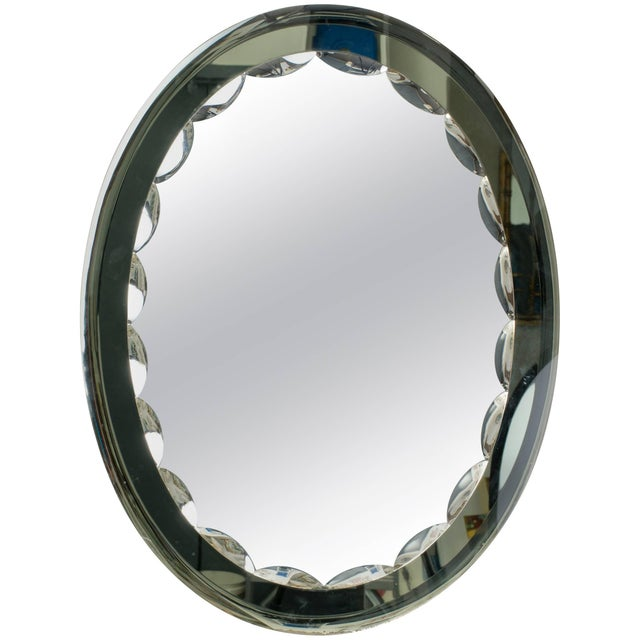 Glass Italian Cristal Art Mirror For Sale - Image 7 of 7