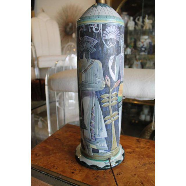 Mid-Century Modern Marian Zawadsky for Tilgman Keramik Vintage Sweden Table Lamp For Sale - Image 3 of 11