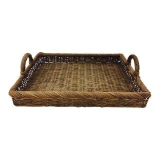 Vintage Woven Wicker Tray