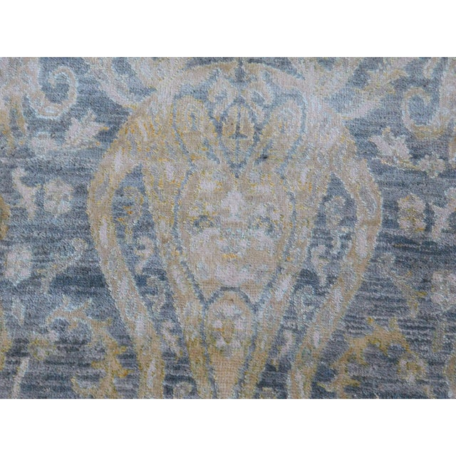 Hand Knotted Indian Ikat Rug - 9′ × 12′ For Sale - Image 11 of 12