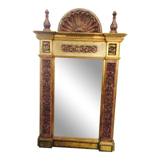 Alabaster Framed Wall Mirror For Sale