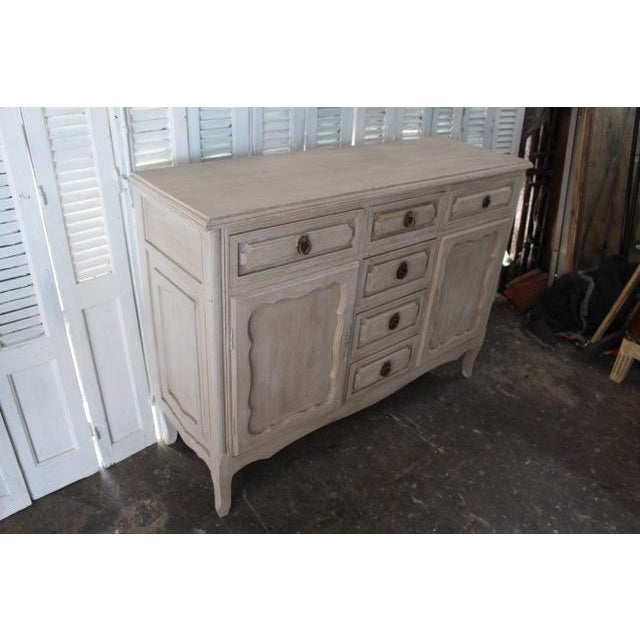 French Country 20th Century Shabby Chic French Style Painted Sideboard For Sale - Image 3 of 10