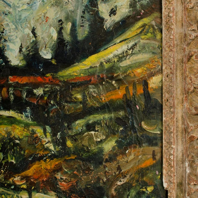 """Mid 20th Century """"Sunday Stroll Home"""" Landscape Oil Painting, Framed For Sale - Image 10 of 13"""