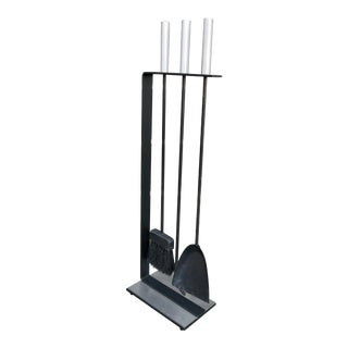 Modernist Fireplace Tool Set For Sale