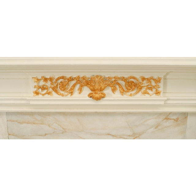 English Georgian Painted Fireplace Mantel For Sale - Image 3 of 4