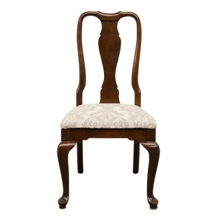Late 20th Century Ethan Allen Georgian Court Solid Cherry Queen Anne Style Side Chair For Sale