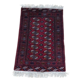 Turkoman Bokhara Hand Knotted Area Rug For Sale
