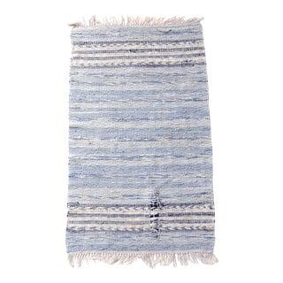 Vintage Blue Rag Rug For Sale