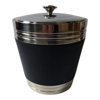Vintage Lenox Metal Ice Bucket With Lid For Sale
