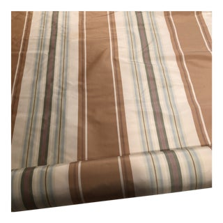 Designer Striped Silk Fabric - 3 Yards For Sale