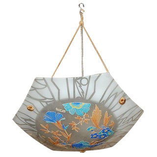 Colorful Hanging Light by Aurys For Sale