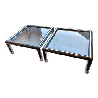 "1970s John Mascheroni ""Tubo"" Coffee Tables - a Pair For Sale"