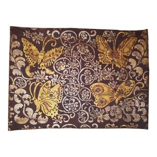 Butterflies Sateen Linen Pillow Cover For Sale