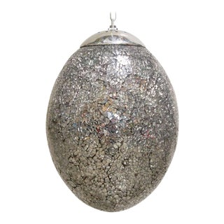 Crackled Mirror Glass Egg Pendants by Fabio Ltd For Sale