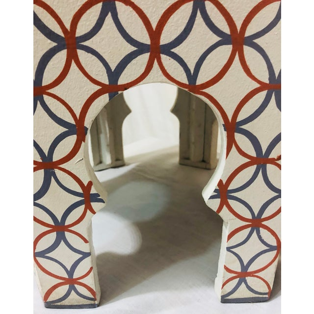 1990s Moroccan Style Lamp Tables - a Pair For Sale - Image 5 of 10