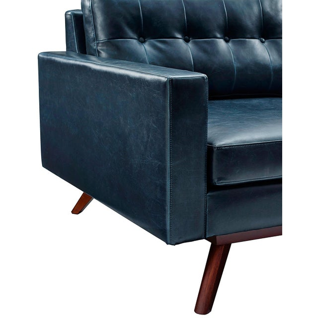 Two Piece Antiqued Leather Sectional Sofa - Image 4 of 4
