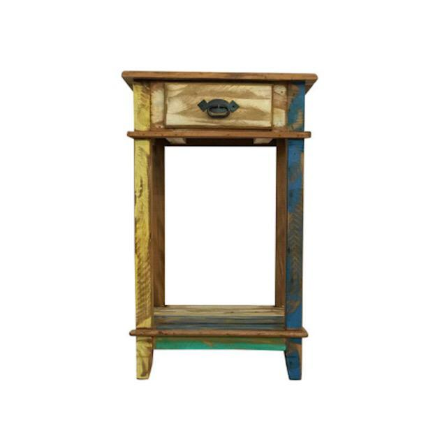 2010s Reclaimed Wood Nightstand For Sale - Image 5 of 5