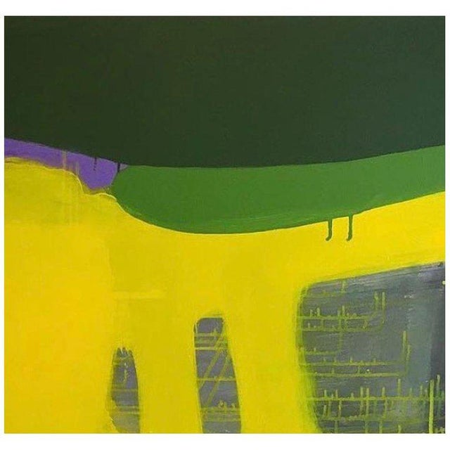 2010s Arild Askeland Abstract Acrylic Painting on Canvas Yellow Morning For Sale - Image 5 of 5