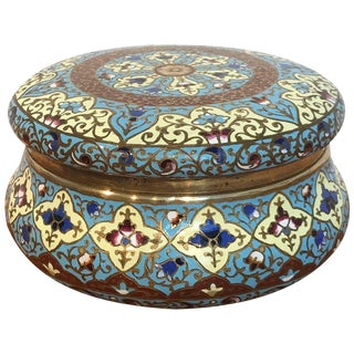 French Enamel Table Box, Attributed to F. Barbedienne For Sale