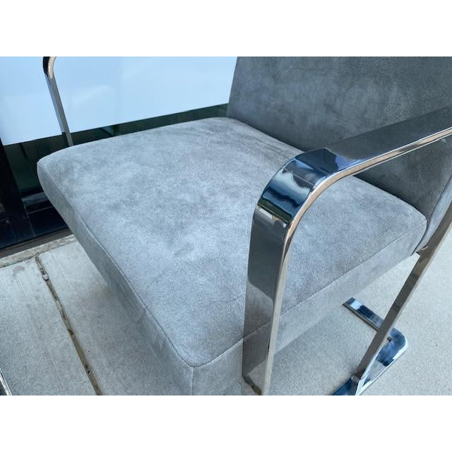 Pair of Vintage Chrome Chairs, Newly Recovered in Hide For Sale In Nashville - Image 6 of 11