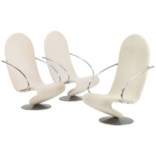 1970's Verner Panton for Fritz Hansen System 1–2-3 Easy Armchairs - Set of 3 For Sale